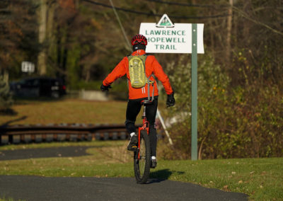 LHT Unicyclist on the trail