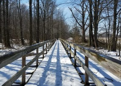 LHT Snow on Bridge photo by Robyn Gordon