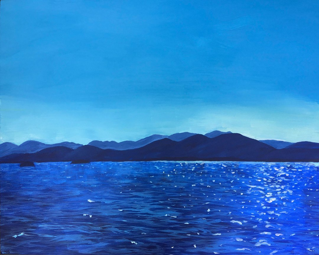 LHT Nicky Belletier Lake Champlain Painting