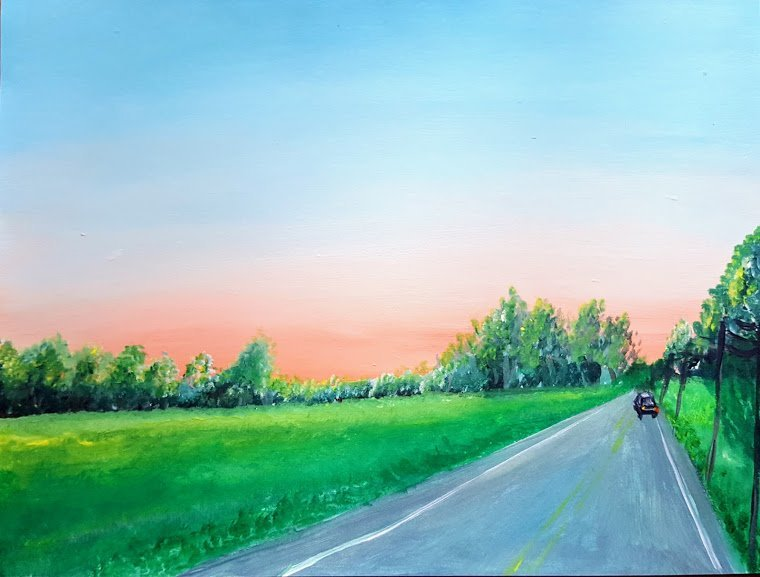 LHT Car Ride Sunset Art on the Trail by Pratibha Raju