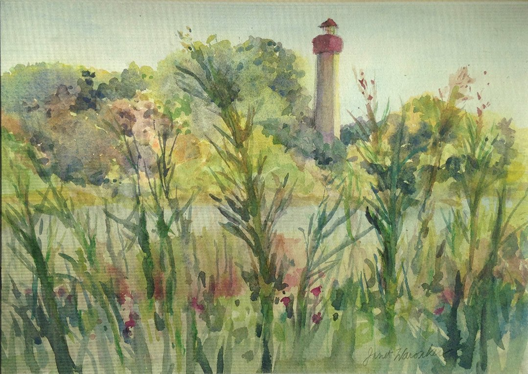 LHT Art on the Trail Janet Waronker Cape May Lighthouse