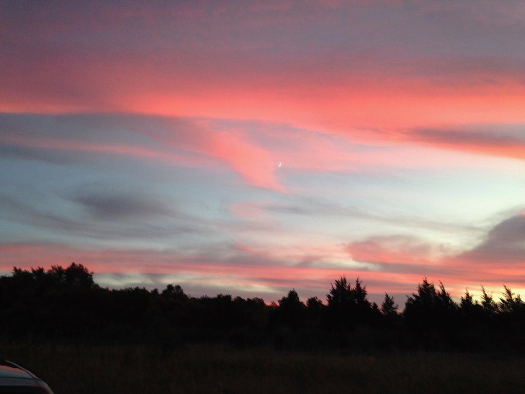 LHT Art on the Trail Janet Waronker Red Sunset Photo