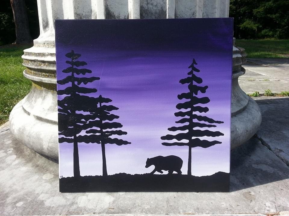 LHT Art on the Trail Meghan Bruce Bear Silhouette