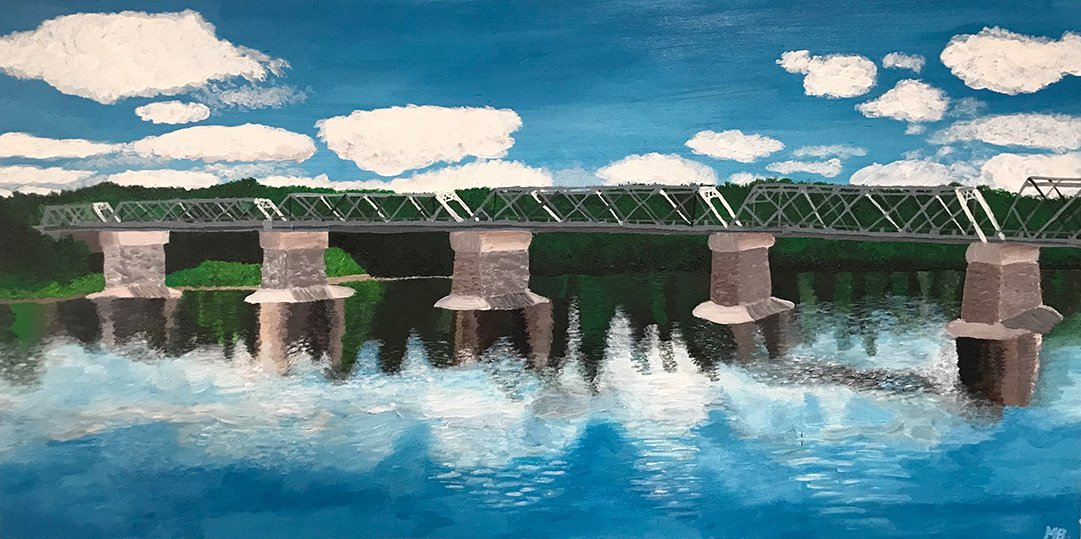 LHT Art on the Trail Meghan Bruce Washington Crossing Bridge