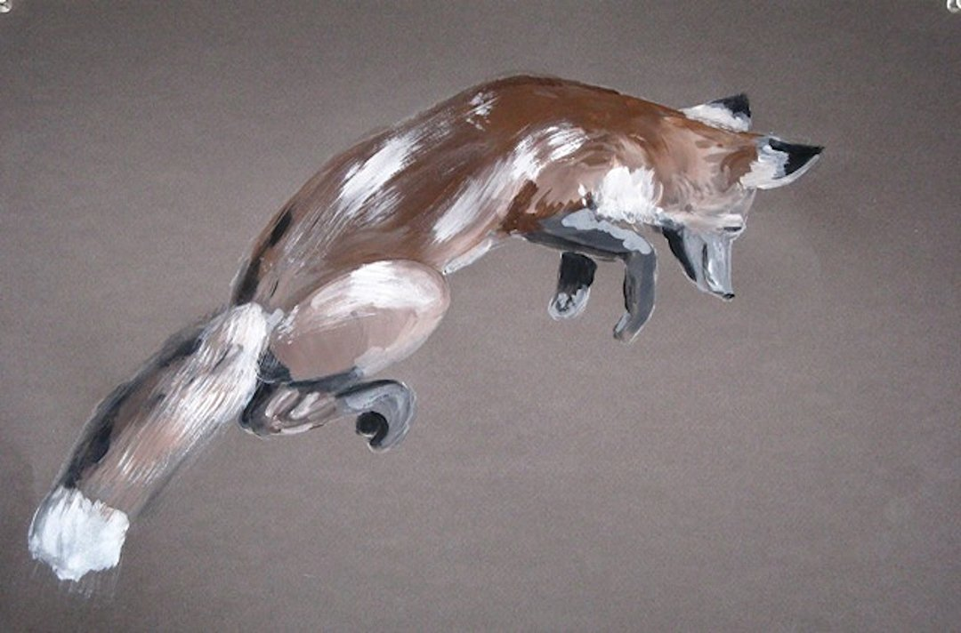 LHT Art on the Trail Mary Waltham Fox Leaping