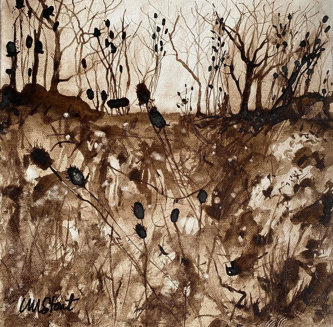 LHT Art on the Trail Lucia Stout  Weeds Walnut Ink