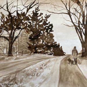 LHT Art on the Trail Lucia Stout Walnut Ink