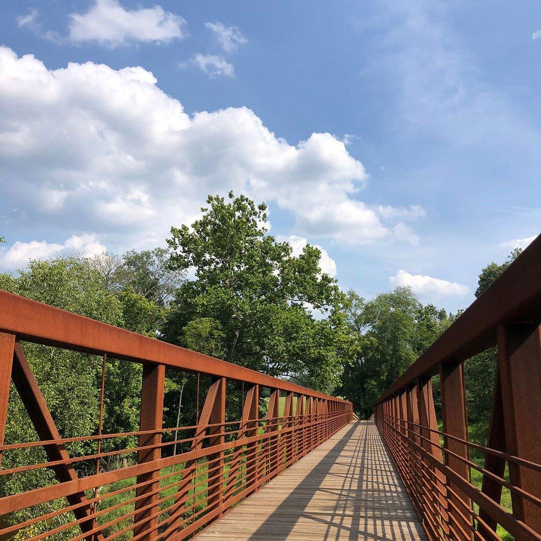 LHT Volunteer Anne Hayton Stony Brook Bridge