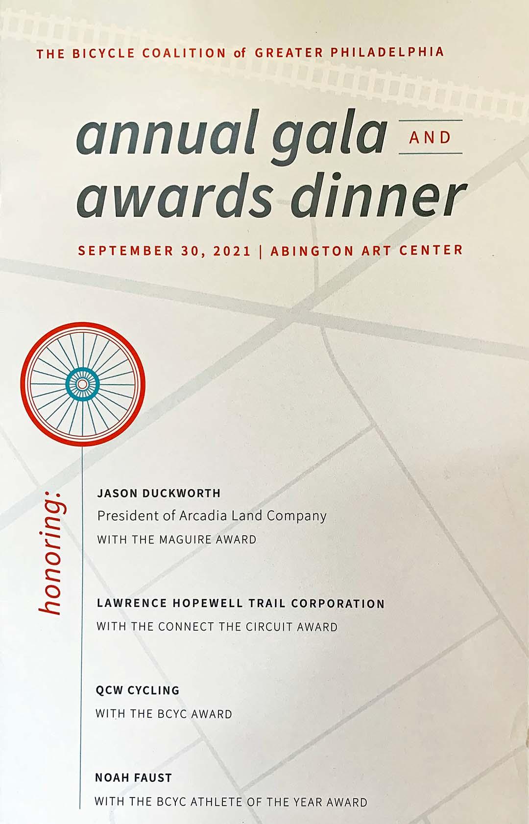 LHT Bicycle Coalition Award